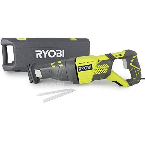 Ryobi 1200 W Säbelsäge RRS1200-K (Säge mit Holzsägeblatt, Koffer, Innensechskantschlüssel) 5133002472