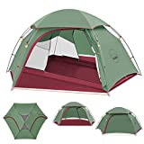 KAZOO Lightweight Backpacking Tents 2 People Hiking Backpack Tent Two Man Waterproof Camping Tent 2 Person Aluminum Frame Double Layer