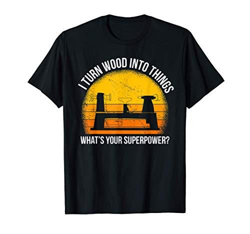Trasformo il legno in oggetti Falegname al tornio Camiseta