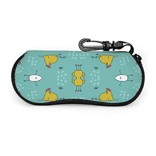 Wthesunshin zonnebril met pauwenmotief, zacht, met ritssluiting, beschermetui met riemclip