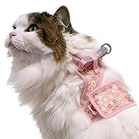猫用ハーネス ダブルブロックタイプ 花柄シリーズ 3Lサイズ ゴロにゃんオリジナル 花柄ピンク 3Lサイズ