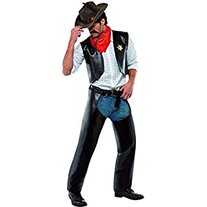 Smiffys - Disfraz de sheriff del oeste para hombre, talla única ...
