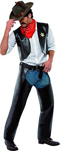 Smiffy's - Disfraz de sheriff para hombre, talla única (36238)