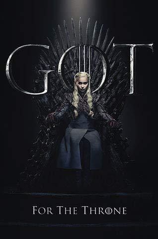 Game of Thrones - Staffel 8 - Daenerys - Film - Poster - Grösse 61x91,5 cm + 1 Ü-Poster der Grösse 61x91,5cm
