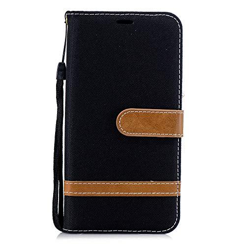 Hülle für Xiaomi Redmi 6Pro / Mi A2 Lite Hülle Handyhülle [Standfunktion] [Kartenfach] [Magnetverschluss] Schutzhülle lederhülle flip case für Xiaomi Redmi 6 Pro - DEBF031246 Schwarz