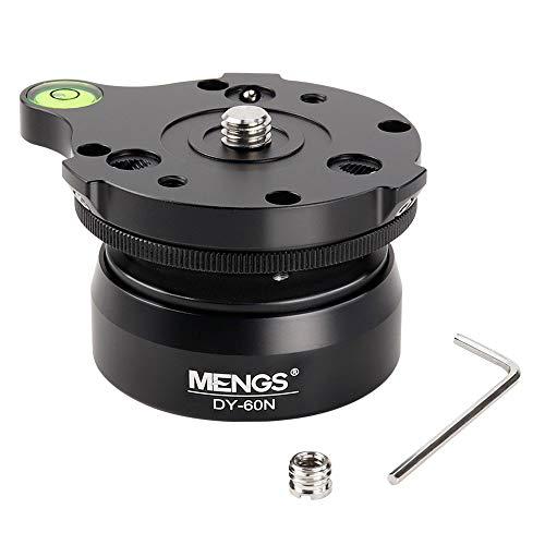 MENGS DY-60N 60 mm Stativ-Nivellier-Sockel Kamera-Nivellierer 3/8 Zoll mit versetzter Wasserwaage, Neigung 15 °, 1/4 Zoll (0,64 cm) Gewinde für Canon, Nikon, Sony DSLR-Kameras etc.