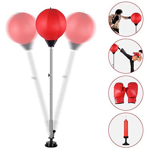 Dapang Punchingball Standboxsack 1.2-1.5m Höhenverstellbar Sandsäcke Punchingbälle Boxen Boxsack Boxstand Punching Stand Punchingball Set mit Boxhandschuhen Inflatorpumpe,Rot