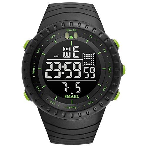 Reloj deportivo digital de los hombres 50M impermeable de 164 pies electrónica de LED de visualización al aire libre de los relojes 12H / 24H Tiempo de luz de fondo del reloj cronómetro 100/1 fengong