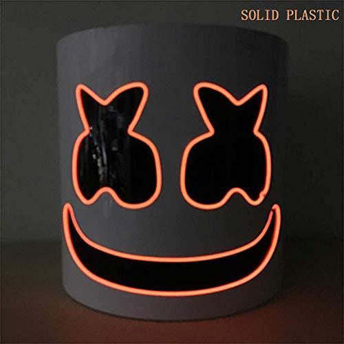 Wttfc Máscara de DJ Marshmallow Casco, Festival de música Bar Esenciales Luces de Puntales, DJ Music Festival máscara de la máscara del Casco de la Novedad del Partido del Traje de Casco,Rojo