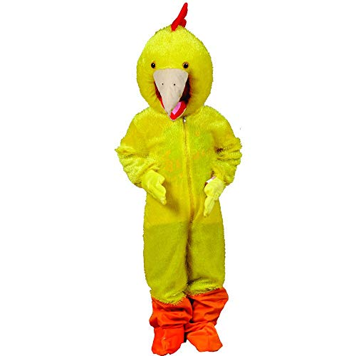 Dress Up America grappig geel kip kostuum voor volwassenen