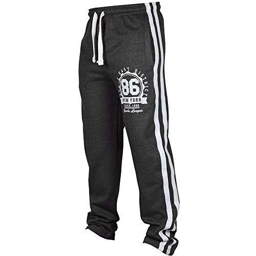 Xmiral Herren Sporthose Jogging Fitness Lässige Lose Jogginghose Drawstring Pants Seite Streifen Logo Lässige Hosen(L,Dunkelgrau)