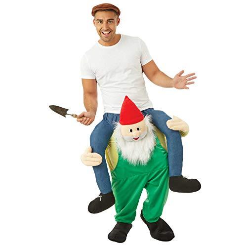 Fun Shack Grünes Zwerg Huckepack Kostüm für Erwachsene, lustiges Faschingskostüm - Einheitsgröße