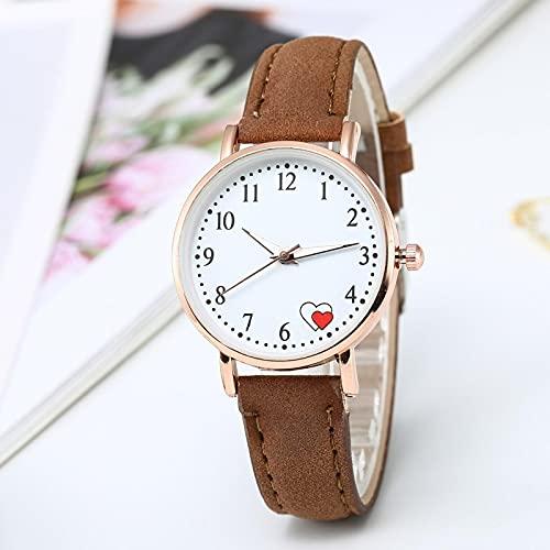 Relojes Lindos Relojes para Mujer, Reloj De Pulsera con Corazón De Color Caramelo, Reloj De Gelatina De Silicona Coreana, Reloj, Regalos para Mujeres, Marrón