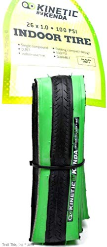 Kinetic by Kurt Kenda Trainer Tire (26-Inch x 1-Inch, Black/Green)
