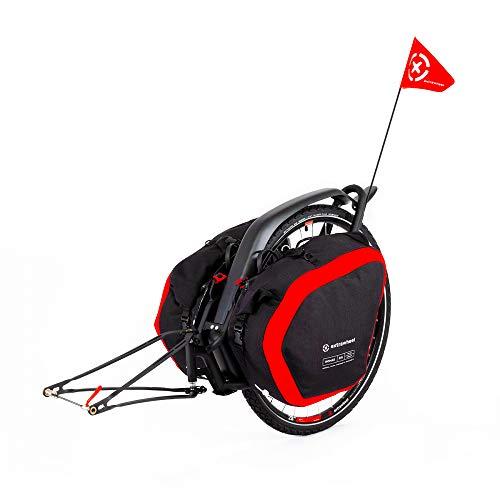 Extrawheel Brave [60L-100L] Fahrradanhänger Lastenanhänger Cordura Reiseanhänger Taschen Einradanhänger (Taschen: 60L, Laufrad: 29