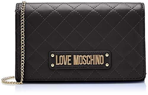 Love Moschino Quilted Nappa Pu, Pochette da giorno Donna, Nero (Nero), 7x14x22 cm (W x H x L)