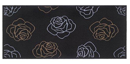 Flurläufer - Küchenläufer - Universal Läufer - Küchenmatte - Läufer - Modell - roses black - 67 x 150 cm