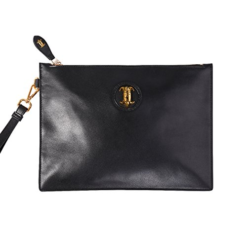 Safelake Jet Black Clutch Bag Slim Envelope Ipad Sleeve 12