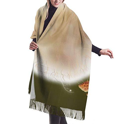 zengdou - Sciarpa invernale da donna, misura grande, modello Botanicula Silky And Comfortable Shawl Soft Scarves
