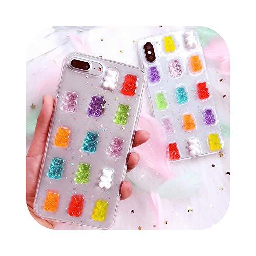Schutzhülle für iPhone 6, 3D-Gummibärchen, 6S, 7, 8 Plus, X, XS Max, XR, Cartoon-Design, weiches Silikon, TPU, für iPhone 11 Pro