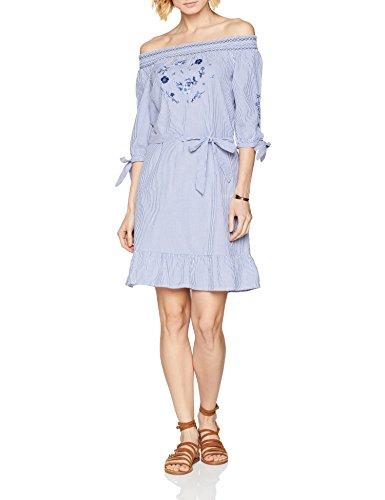 s.Oliver Damen 14.804.82.7994 Kleid, Blau (Pazific Blue Struc. Strip 54H8), 40