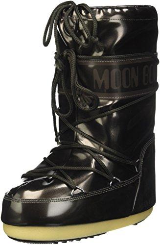 Moon Boot Vinile Met, Chaussures Premiers Pas pour Bébé Unisexe-Enfants de 0 à 24 Mois, Noir, 31-34