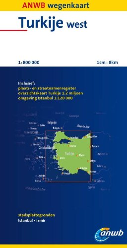 Turkije West: schaal 1:800.000