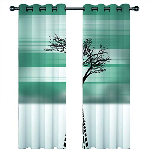 Leeypltm 1 set 2 Panels -3D Blackout Curtains, Curtain For Eyelet, Pleat Curtains, Tents for winter trees2 x W 46 x D 54inch,Apply to: bedroom/living room/balcony, etc.