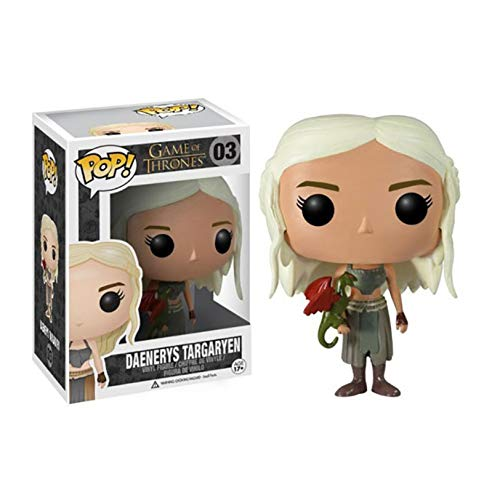 TYRIXEN Película Pop Juego de Tronos Daenerys Targaryen 10cm Colección de muñecas de Vinilo Juguete Anime Estatuas Figuras de acción