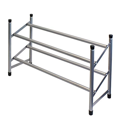 JVL 2 TIER EXTENDABLE SHOE RACK