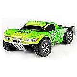 efaso WLToys A969 2,4 GHz Short Course Truck 1:18 1/18 RC Auto - bis zu 50 km/h schnell - Farbe: grün/schwarz