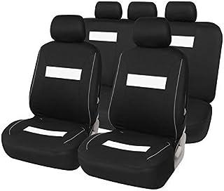 DINEGG Universal Car Seat Covers Accesorios Interior Adapta Asiento del vehículo Marca más Cubierta del Asiento de Coche Accesorios del Coche Protector (Color: Blanco), Nombre Color: Blanco