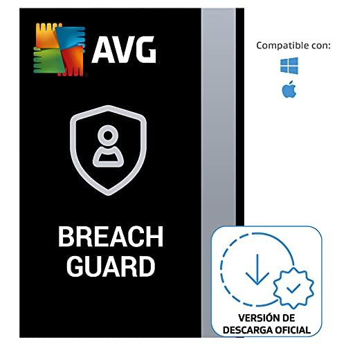 AVG BreachGuard - Protección en línea de información confidencial contra la filtración de datos   1 Dispositivo   1 Año   PC   Código de activación PC enviado por email