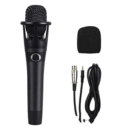 Hand condensator microfoon, condensator kabel, ruisonderdrukking functie, geschikt voor alle geluidskaarten, plug and play, compatibel met verschillende veld platforms,Black