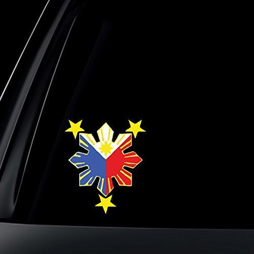 World Design Philippine Flag Sun Car Decal/Stickers