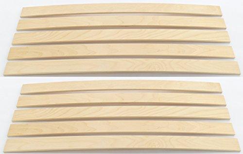 BOSSASHOP.de 10er Paket Federholzleisten Latten | Sofa Futon Bett (Stärke/Höhe 8mm | Breite 55mm | WUNSCHLÄNGE)
