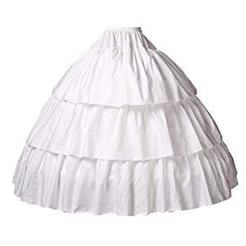 Reifrock Mädchen Petticoat Kinder 100% Baumwolle A Linie Lang Unterrock Ivory 2 3 4 Ringe Für Blumenmädchen Kleid Brautkleid, Style 2-hell Elfenbein, 81CM-Fits(10-12)Years