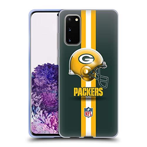 Head Case Designs Offizielle NFL Helm Green Bay Packers Logo Soft Gel Handyhülle Hülle Huelle kompatibel mit Samsung Galaxy S20 / S20 5G