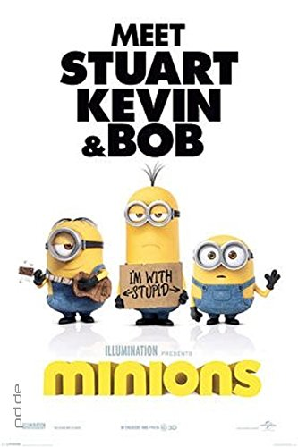 Poster Minions - I\'m with Stupid - Größe 61 x 91,5 cm - Maxiposter