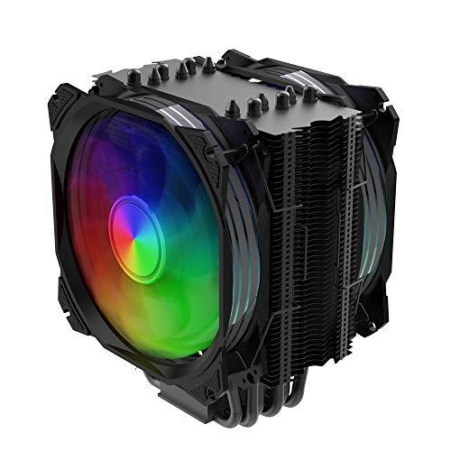 Nfortec Sculptor - Dissipatore ad aria per CPU ad alte prestazioni con illuminazione ARGB e compatibile con Intel e AMD