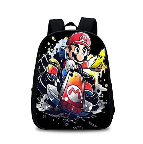 Mario Kids Bag pequeña mochila para niños niñas lindo dibujos animados Super Mario impresión 3D Bookbag Kindergarten School Bag Satchel Mochila Escolar