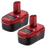 KINGTIANLE 2Packs Upgraded to 5.0Ah Lithium C3 Battery for Craftsman 19.2 Volt Battery DieHard 315.115410 315.11485 130279005 1323903 120235021 11375 11376 315.PP2011 Cordless Battery