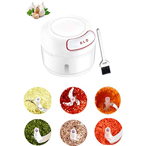 DLD Easy Pull Food Chopper and Manual Food Processor - Vegetable Slicer and Dicer - Hand Held