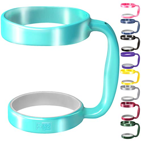F-32 Handle | 19 COLORS | 30oz or 20oz size available | Compatible with YETI, OZARK TRAIL, BEAST, RTIC (PREVIOUS DESIGN) and More Tumbler Travel Mug | BPA FREE (30OZ, SEAFOAM BLUE)
