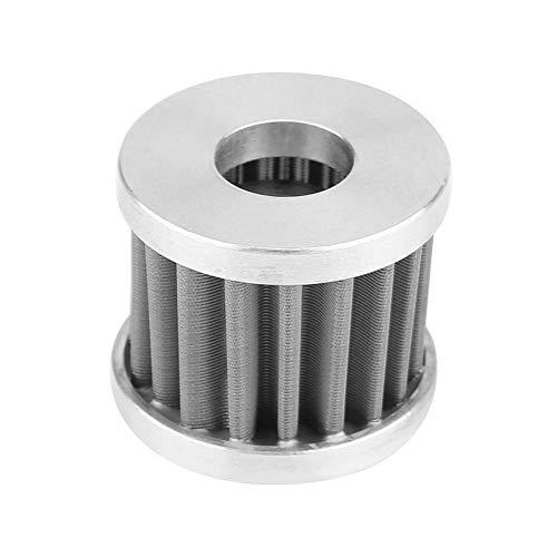 Filtro de enfriador de aceite Qiilu, Elemento de filtro de enfriador de aceite modificado de motor de aluminio plateado para motocicleta