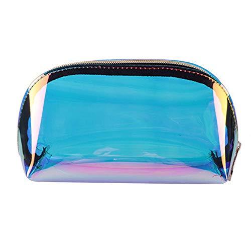 Womdee Holografische Make-up-Tasche, schillernde Kosmetiktasche & TPU-Kulturtasche & Clutch &...