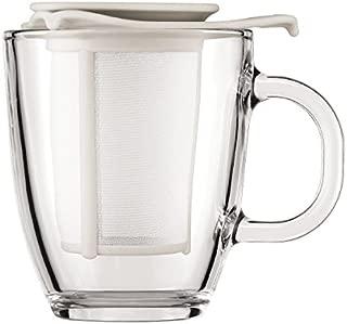Bodum Yo-Yo Set Mug and Tea Strainer, 10-Ounce, Off-White