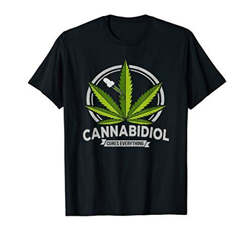 Cannabidiol Heilt alles CBD Hand Hanföl Natur Heilkunde T-Shirt