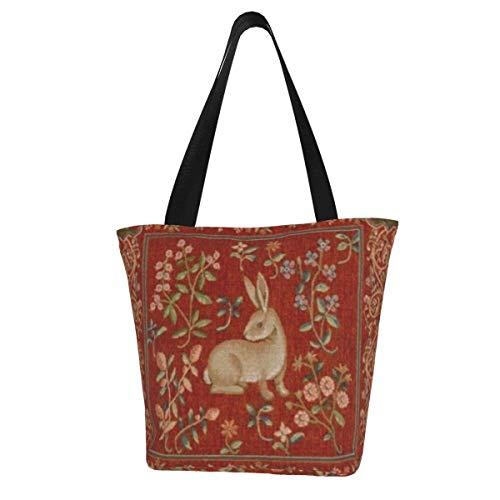 Bolsa de lona personalizada, cojín de tapicería vintage, lavable, bolsa de hombro, bolsa de compras para mujeres