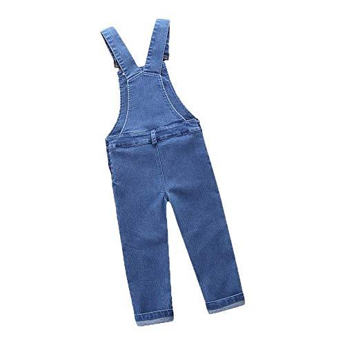 Tonsee Kleinkind Jungen Mädchen Overall Denim Latzhose Strap Jeanshosen Rompers Mode Einfarbig Ärmelloses Neugeborenes Baby Dicke Jumpsuit Hose (80, Blau)